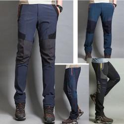 erkekler yürüyüş pantolon serin cephe hattı üçlü kama pantolon en