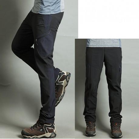 pánska hikingové nohavice v pohode potiť zvrat vrecka nohavíc je