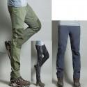 pánska hikingové nohavice v chladnej brnení pevnej nohavíc je