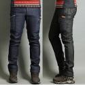 men's hiking denim side pocket pants