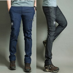 men's hiking denim side pocket pants