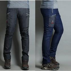 men's hiking pant's denim double side point pocket