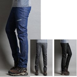 men's hiking pant's denim double side pocket