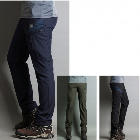 men's hiking pant's solid wallet pocket zipper