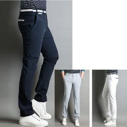 pantalons de golf chèque à carreaux de la marine des hommes