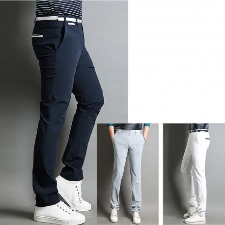 men's golf pants plaid check navy