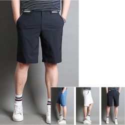 men's golf short pants summer waist stripe band