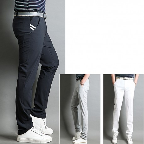 men's golf pants summer twin stripe pocket