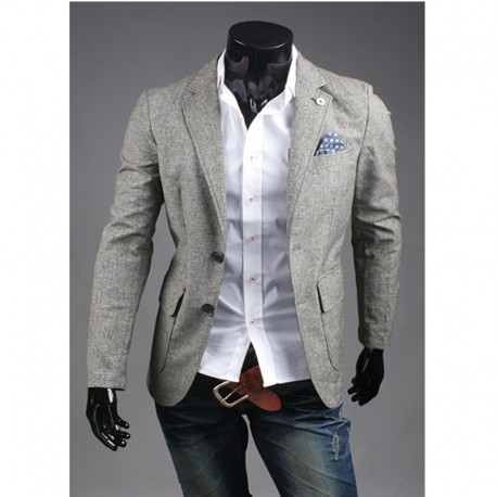 2 button multi function collar blazer