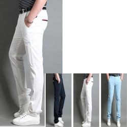 men's golf pant's cool summer hip pocket zipper