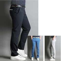 men's golf summer cool pant's hip zipper white