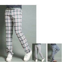 men's golf pant's spring classic plaid check