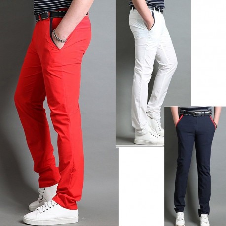 men's golf pant's fall basic hybrid red