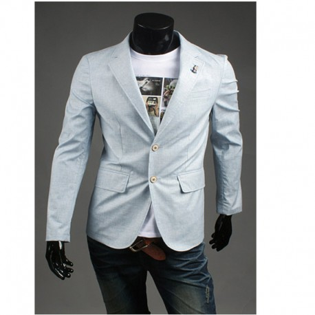 blazer point triple color ribbon men's