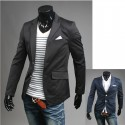 stripe handkerchief men's blazer
