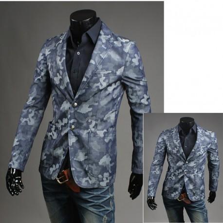 army camouflage men's blazer