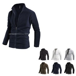 men's fleece fur jacket zip up zipper