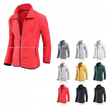 men's fleece fur jacket solid black cut