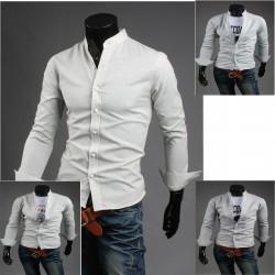 Chine col un chemises de bouton d'homme