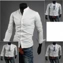 Cina collare uno camicie button uomini