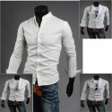 mannen china kraag een knop shirts