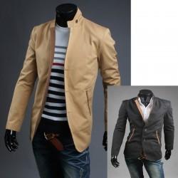 guler china 3 buton Blazer haină pentru bărbați
