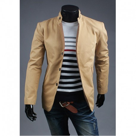 china collar 3 button coat men's blazer