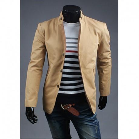 çin yaka 3 düğme ceket erkek blazer