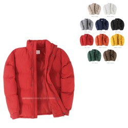 mens overfit padding jacket multi color