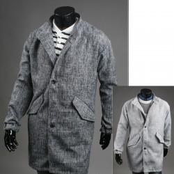 Männer über Mantel versteckt Reißverschluss