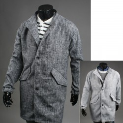 men's over coat hidden zipper