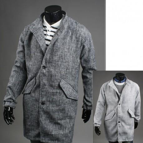 pánske viac než kabát skrytý zips
