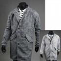 men's over coat hidden zipper