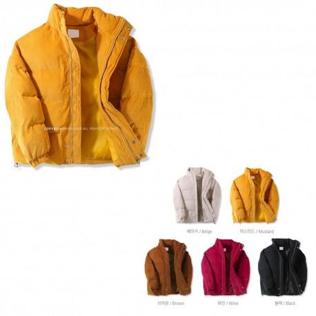mens padding jacket fur 2layer jumper short