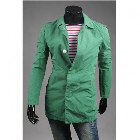 прихована кнопка чоловічий траншею довге пальто