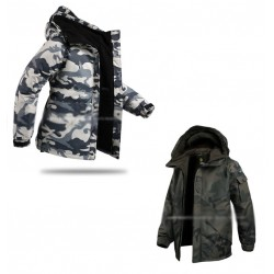mens snow board jacket camouflage military