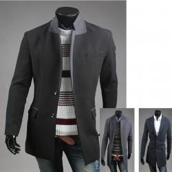 för män dubbla lager coat