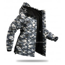 mens snow board jacket camouflage jungle leaf
