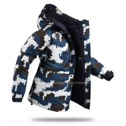 mens snow board jacket camo navy
