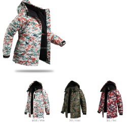 mens snow board jacket digital camo
