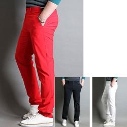 men's golf pant's spring basic triple line pocket