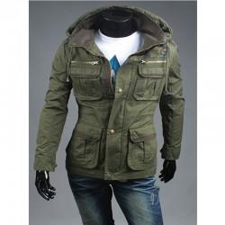 mænds militære jakke 4 lomme