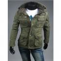 férfi katonai kabát 4 zseb