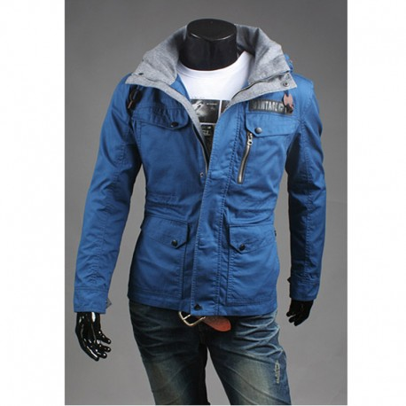 kişi hərbi jaket narıncı hoodie