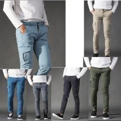 gomma raffreddamento casuale esercito carico bordo coda di pantaloni da uomo