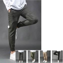 férfi alkalmi hadsereg cargo hűtés gumi farok szélén nadrágréteg