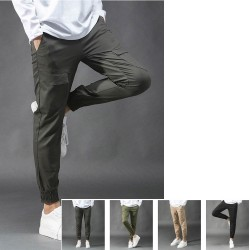 men's span cargo pants jogger simple pocket