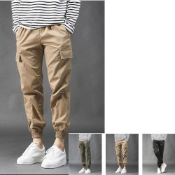 men's span cargo pants jogger loose fit