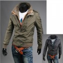 2 layer men's windbreaker jacket