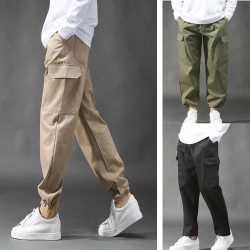 men's span cargo pants free fit double pocket